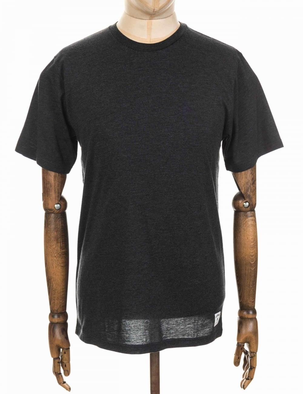 carhartt wip holbrook lt tee black heather clothing