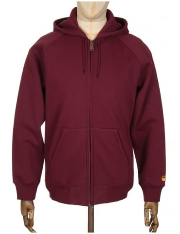 Carhartt Hooded Chase Jacket - Chianti