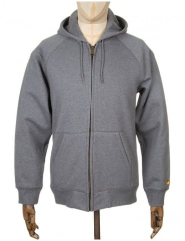 Hooded Chase Jacket - Dark Grey Heather