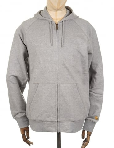 Hooded Chase Jacket - Heather Grey
