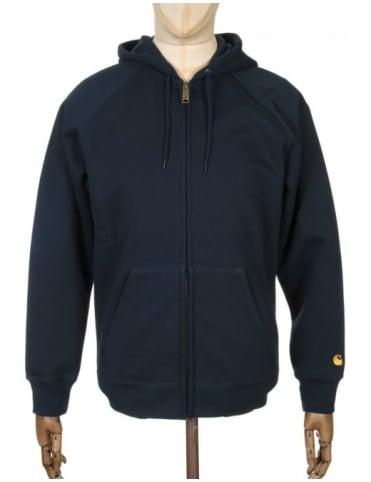 Carhartt Hooded Chase Jacket - Navy