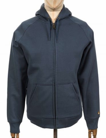 Hooded Chase Jacket - Stone Blue