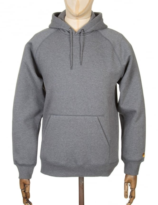 Carhartt Hooded Chase Sweat - Dark Grey Heather
