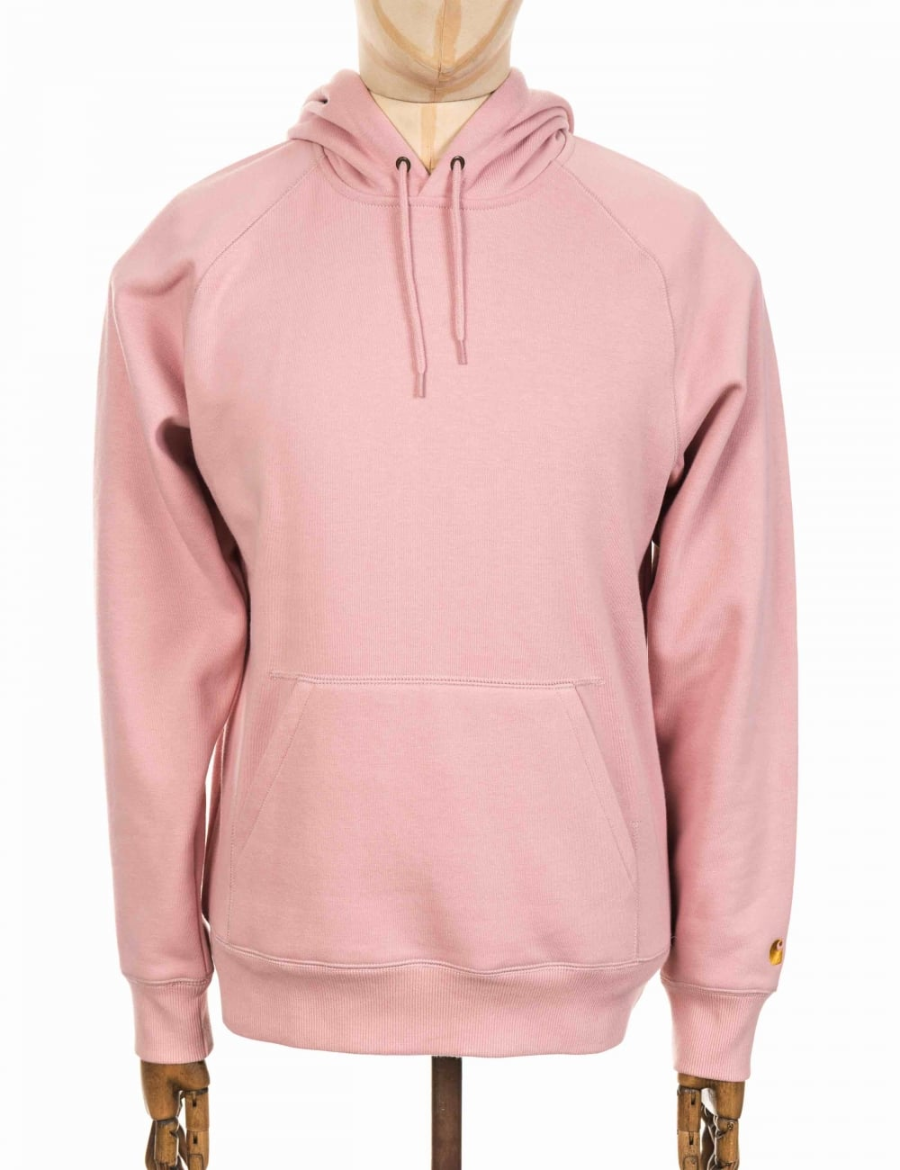 113ef26252934 Carhartt WIP Hooded Chase Sweatshirt - Soft Rose - Clothing from Fat ...