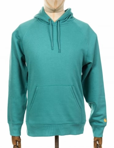 Hooded Chase Sweatshirt - Soft Teal