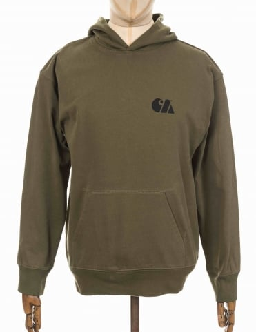 Hooded Military Training Sweatshirt - Rover Green