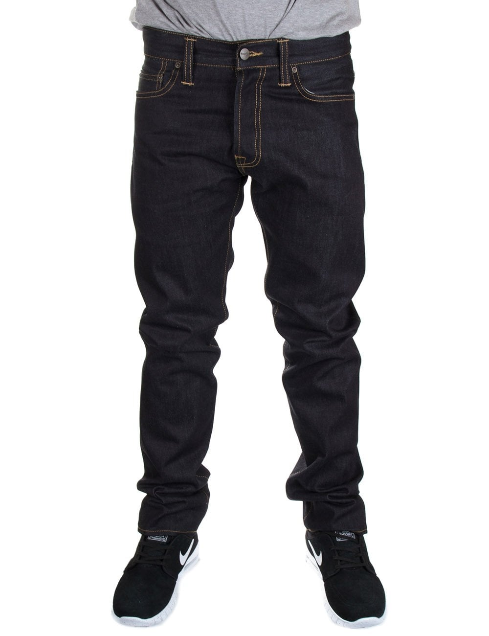 carhartt wip klondike pant ii blue rigid clothing from. Black Bedroom Furniture Sets. Home Design Ideas