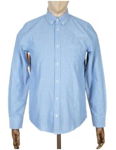 Carhartt L/S Alpha Shirt - Bleach/Blue