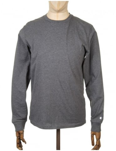 Carhartt L/S Base T-shirt - Dark Grey Heather
