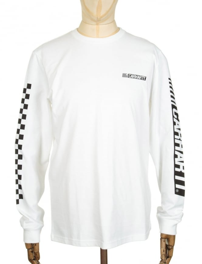 Carhartt L/S Cart T-shirt - White/Black