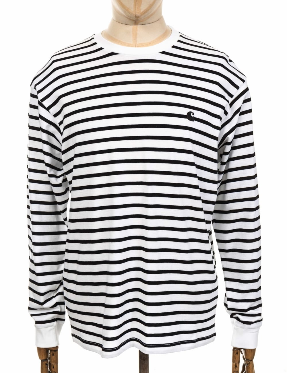 1215fabb1eaa Carhartt WIP L/S Champ Tee - Black/White/Black - Clothing from Fat ...