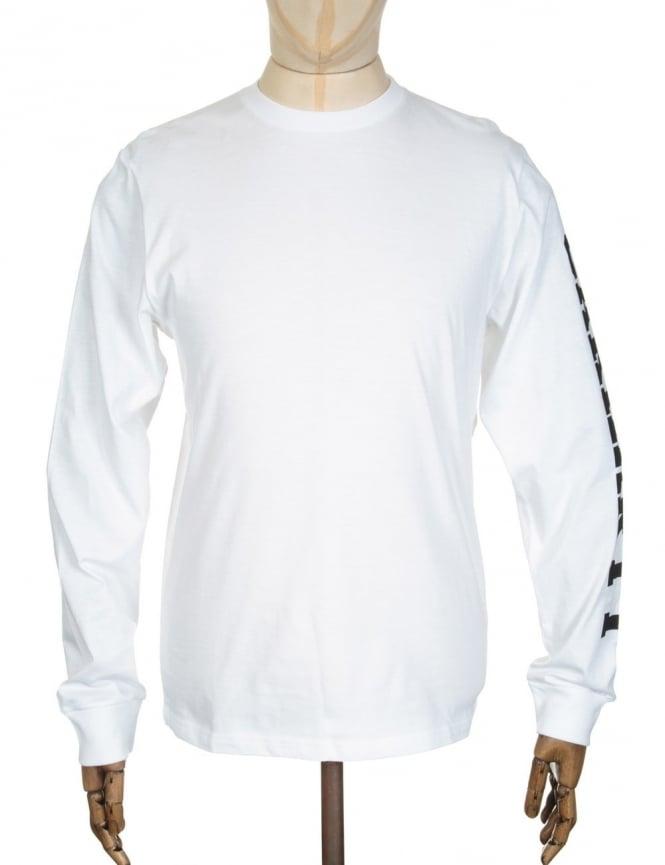 Carhartt L/S College Left T-shirt - White/Black