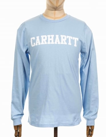 L/S College T-shirt - Soft Blue