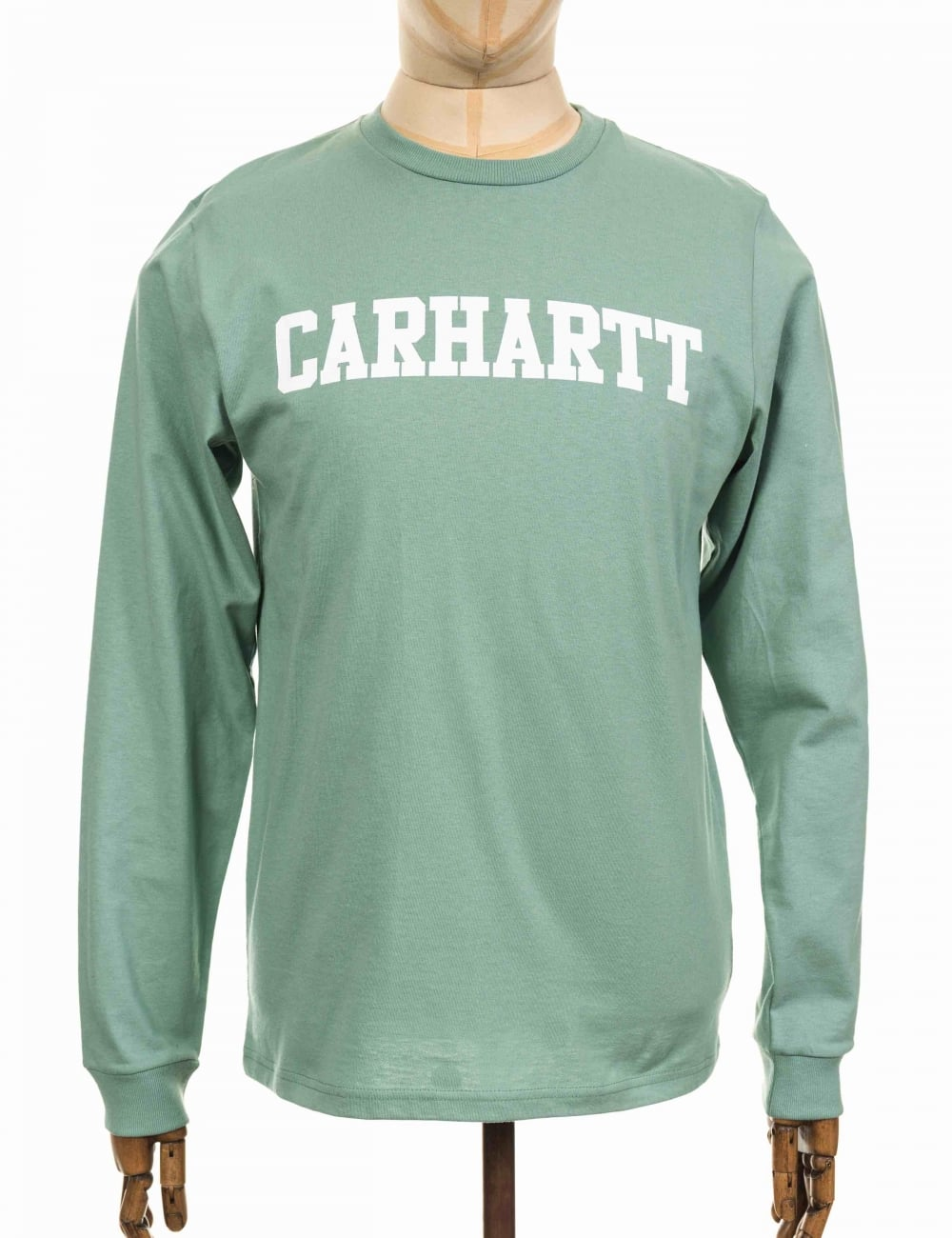 791754d2cc8d Carhartt WIP L/S College T-shirt - Soft Green - T Shirts from Fat ...