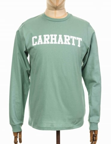 L/S College T-shirt - Soft Green