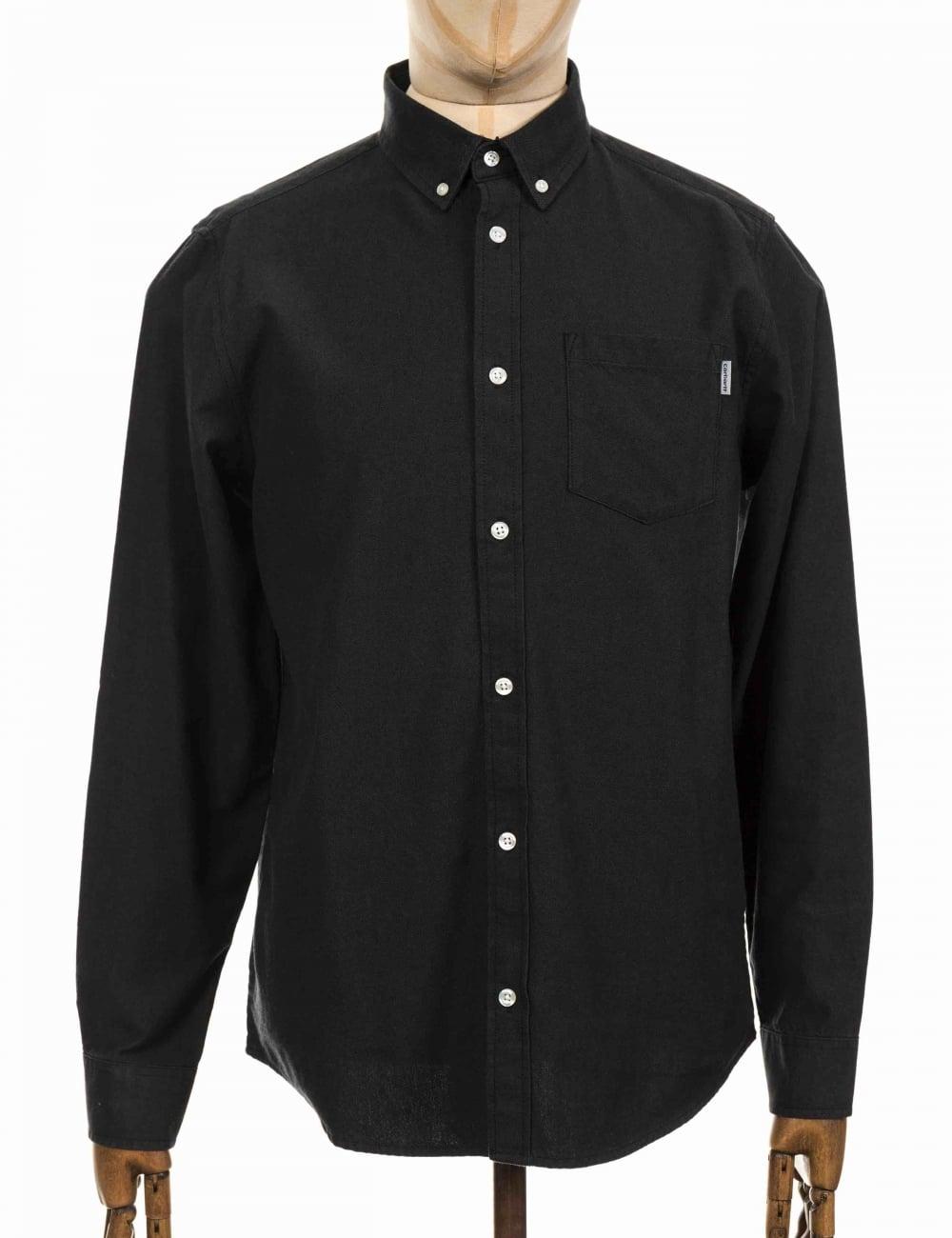 carhartt wip ls dalton shirt blackblacksmith shirts