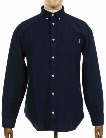L/S Dalton Shirt - Dark Navy/Ink