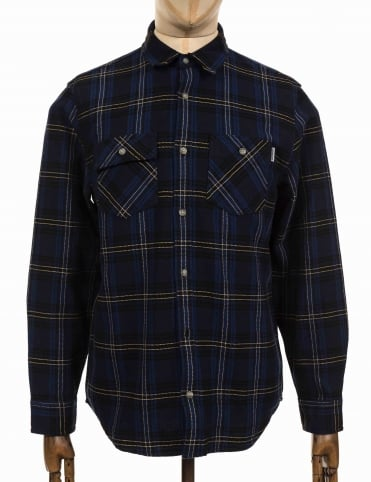 L/S Franklin Shirt - Ink/Black