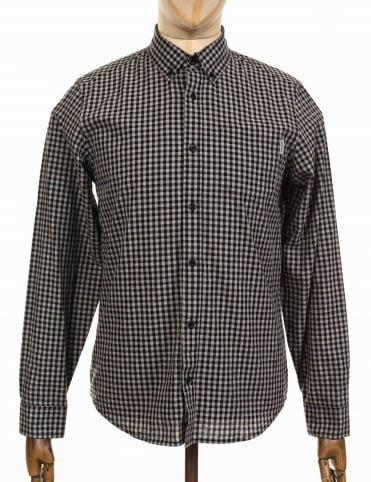 L/S Frost Shirt - Frost Check Black