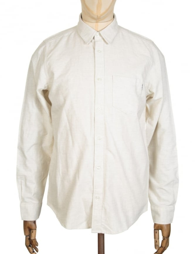Carhartt L/S Griffith Shirt - Snow Heather