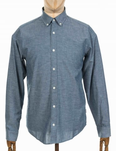 L/S Kyoto Shirt - Blue Stone Washed
