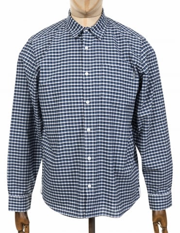 L/S Lemming Shirt - Blue Iris Check