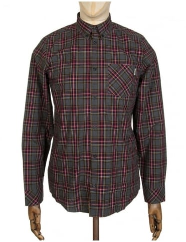 Carhartt L/S Leroy Check Shirt - Black Heather
