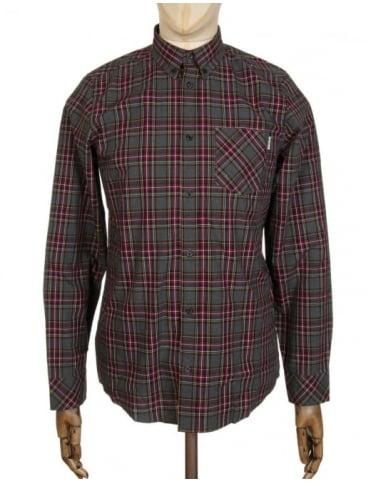 Carhartt L/S Leroy Check Shirt - Black Heather