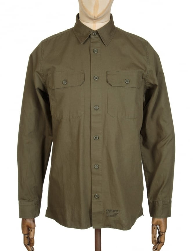 Carhartt L/S Mission Shirt - Rover Green