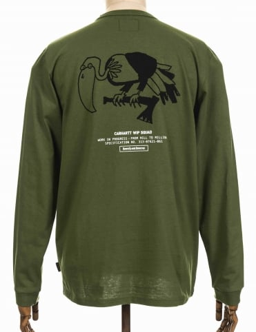 L/S Squad Bird Tee - Dollar Green