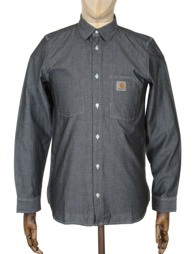 Carhartt L/S State Shirt - Black Rinsed