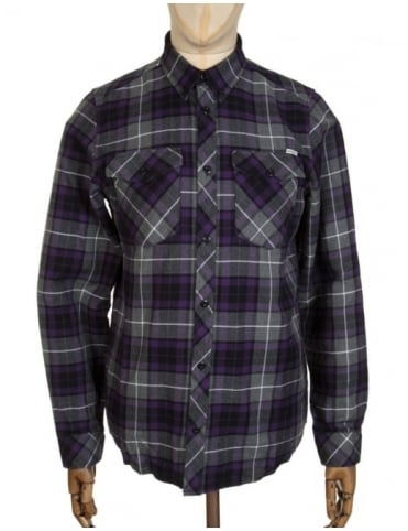 Carhartt L/S Tatum Check Shirt - Emperor Purple