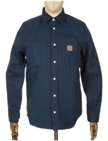 Carhartt L/S Tony Shirt - Navy