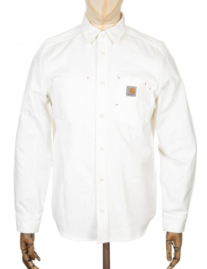 Carhartt L/S Tony Shirt - Snow