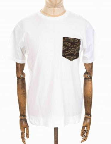 Carhartt Lester Pocket Tee - White/Tiger Camo