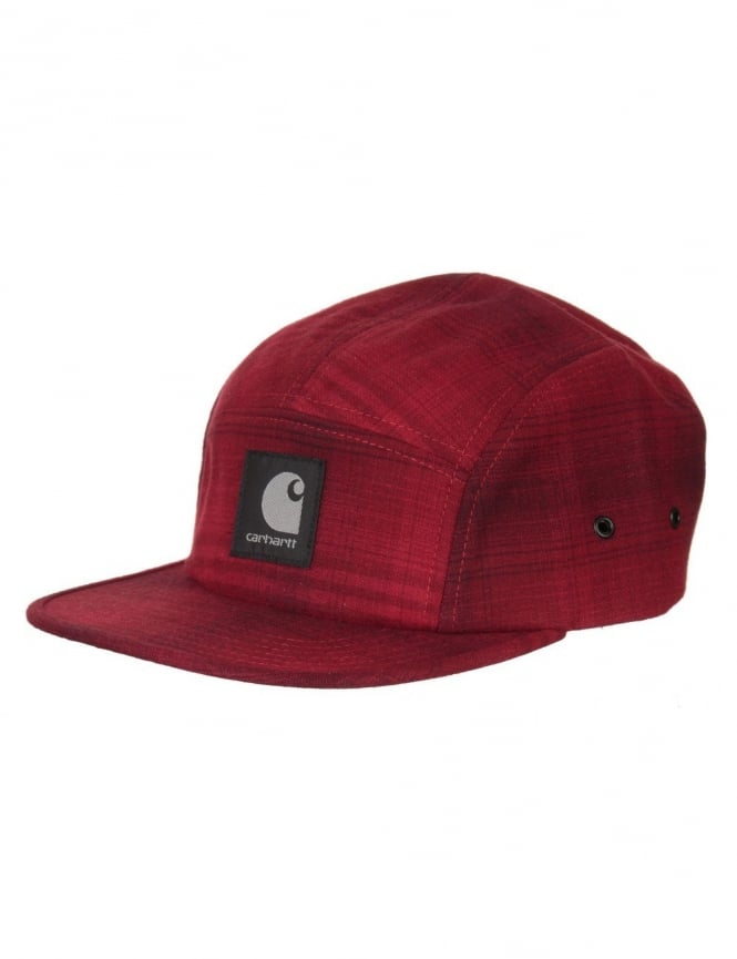Carhartt Logan Cap - Cranberry Check
