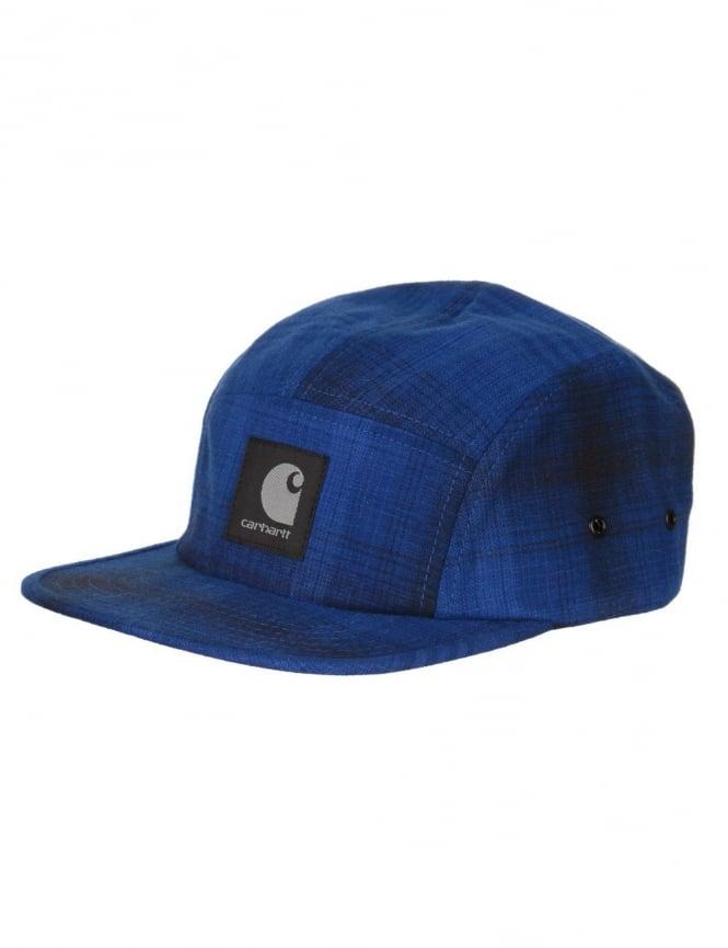 Carhartt Logan Cap - Wolfsbane Blue Check