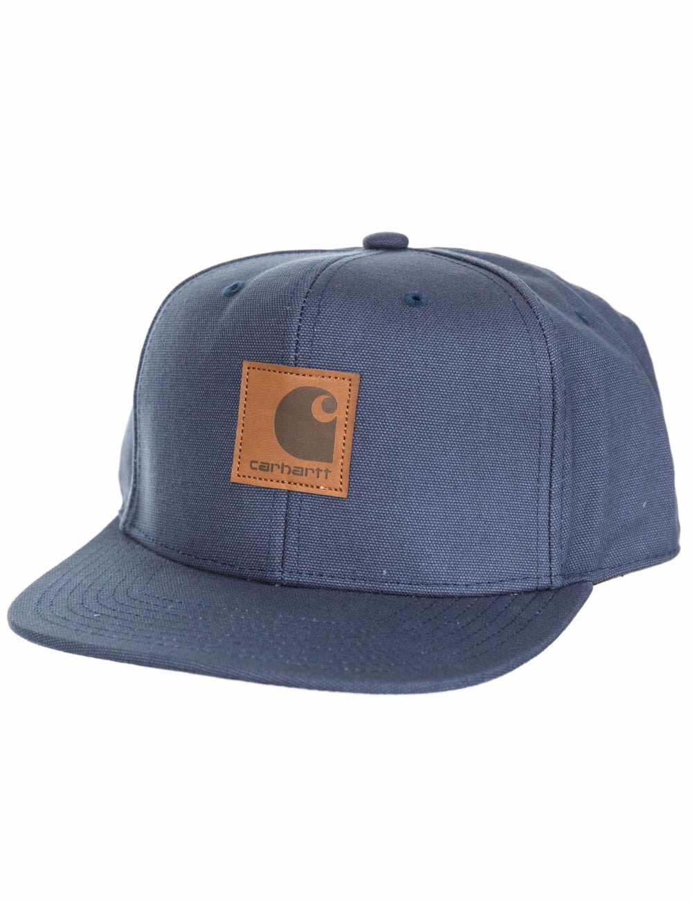 e6f820fe796 Carhartt WIP Logo Cap - Stone Blue - Accessories from Fat Buddha ...