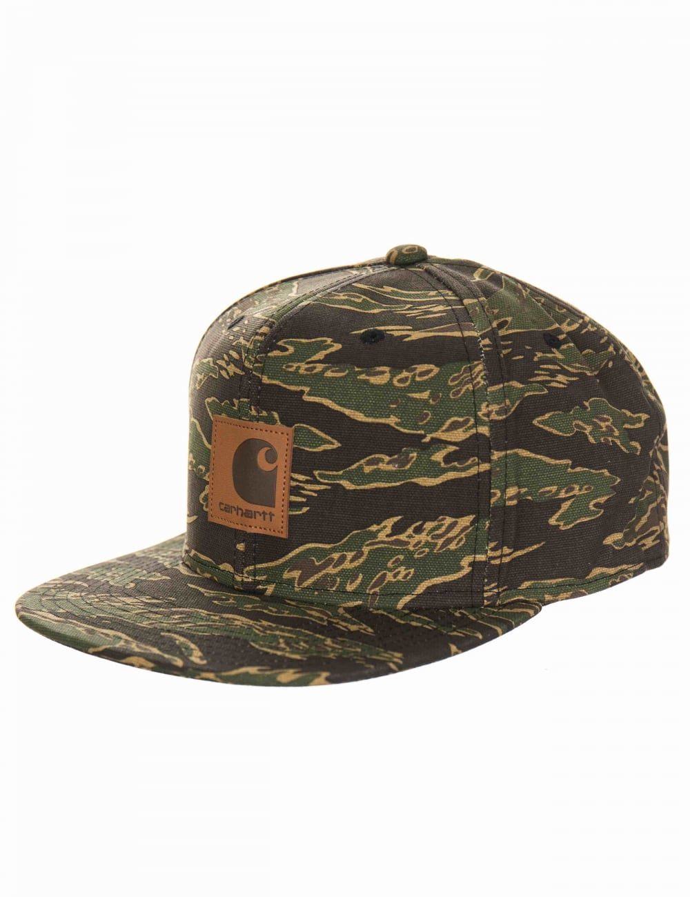 Carhartt WIP Logo Cap - Tiger Camo - Accessories from Fat Buddha ... b78be9382