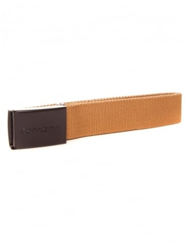 Carhartt Logo Clip Belt Chrome - Hamilton Brown