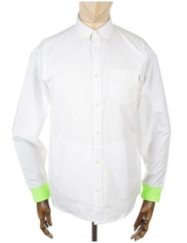 Carhartt LS Pattison Shirt - White/Fluo Yellow