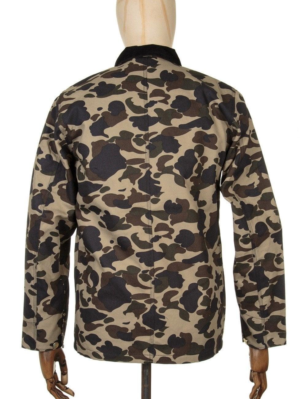 Carhartt WIP Michigan Chore Coat - Camo Duck - Clothing from Fat ... 46d261909