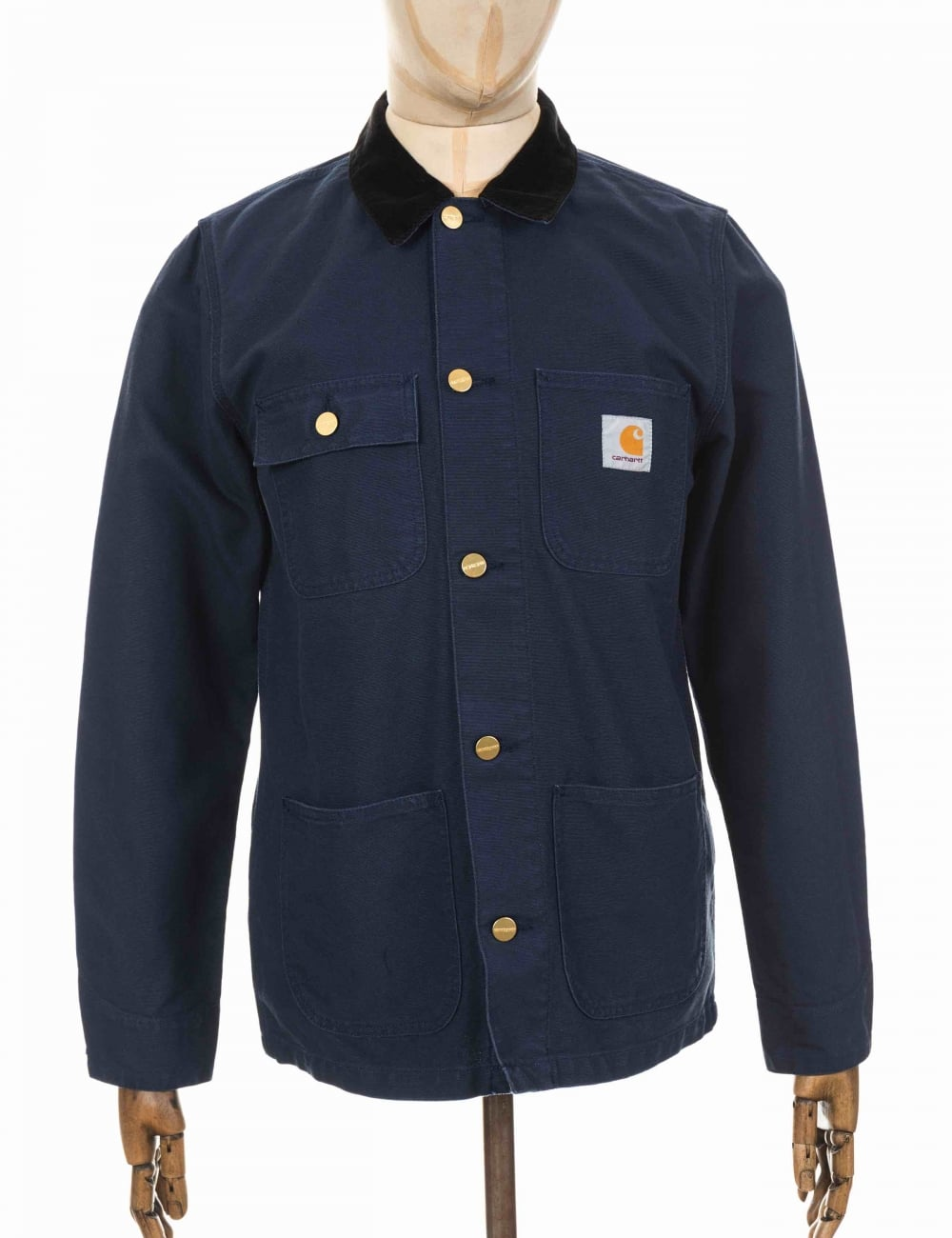 0363f6d95f8 Carhartt WIP Michigan Chore Coat - Navy/Black - Clothing from Fat .
