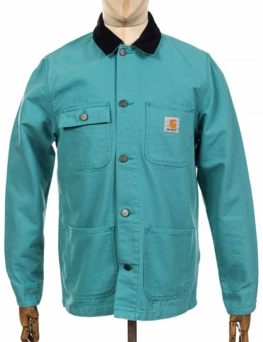 Michigan Chore Coat - Soft Teal/Dark Navy