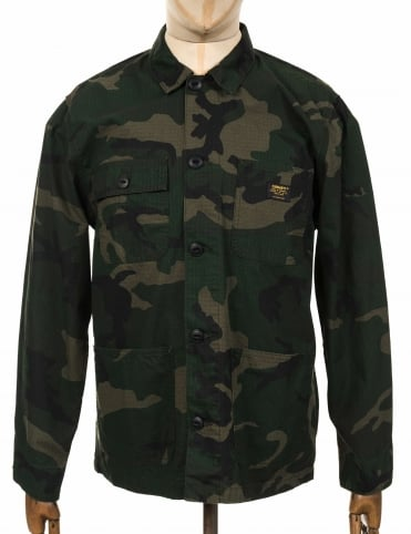 Michigan Shirt Jacket - Camo Combat Green