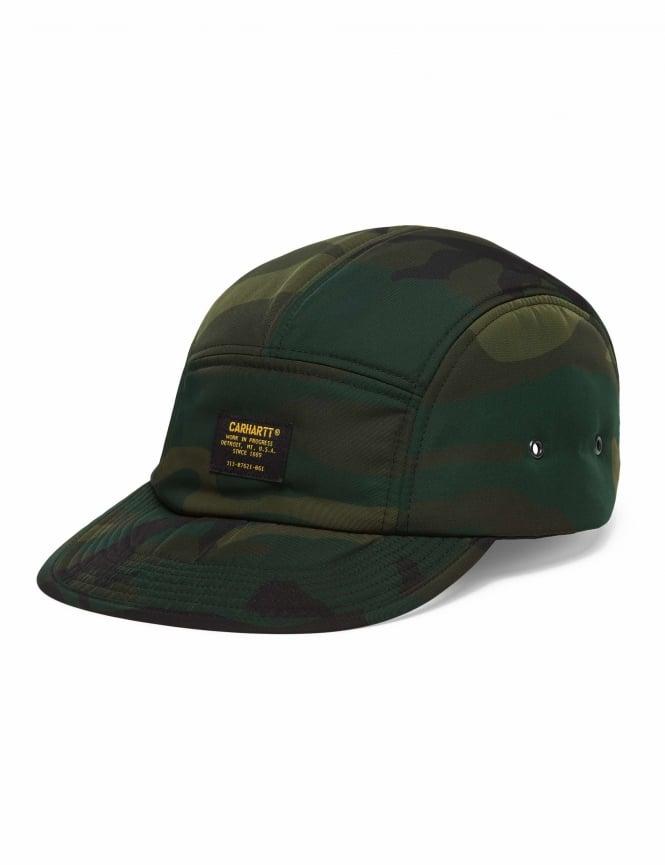 e4c16c673b0b6 Carhartt WIP Military Logo Cap - Camo Combat Green - Hat Shop from ...