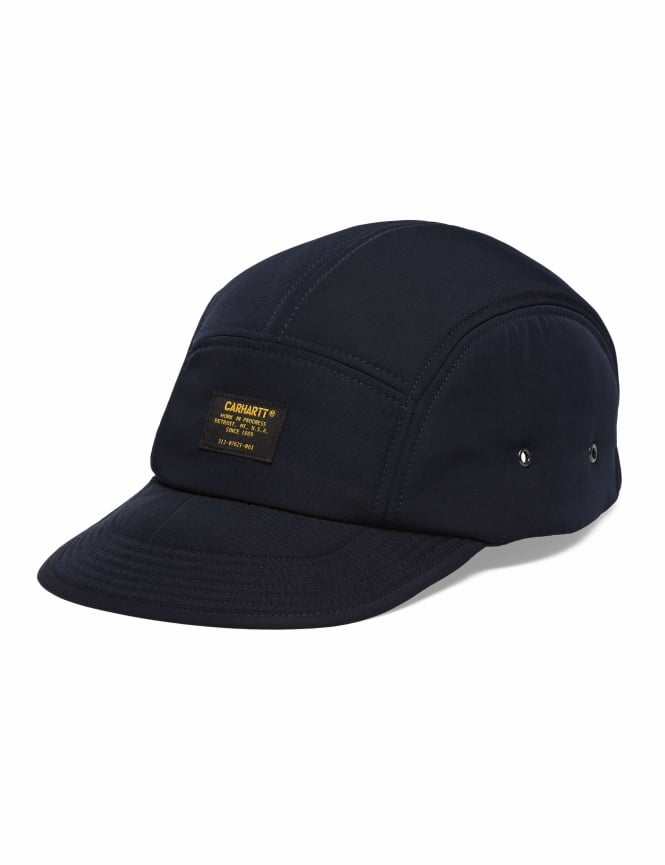 5266fd1dd44 Carhartt WIP Military Logo Cap - Dark Navy - Hat Shop from Fat ...