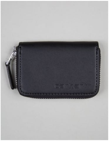 Mini Leather Wallet - Black