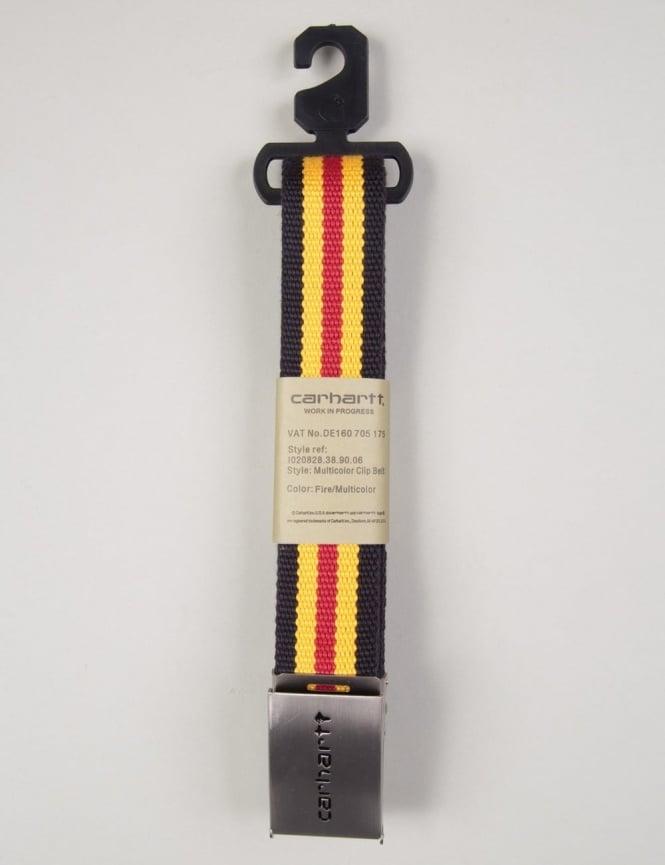 Carhartt Multicolour Clip Belt - Fire Red