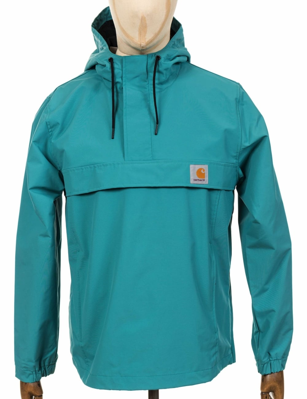 3e52bd3eddc Carhartt WIP Nimbus Pullover Jacket - Soft Teal - Jackets from Fat ...